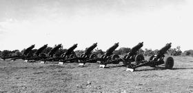 75mm Pack Howitzers of 159th Parachute Light Regiment 1946