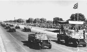 159th Parachute Light Regiment on the Delhi Victory Parade 7 March 1946