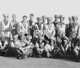 Group photo of trainees at Chaklala including members of 159 Parachute Light Regiment