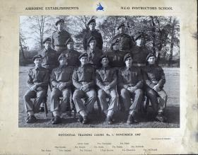 Airborne Establishments N.C.O Instructors School, Potential Training Cadre No.1 November 1947