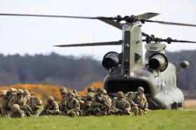 The Airborne Task Force takes part in Exercise Joint Warrior, 2012.