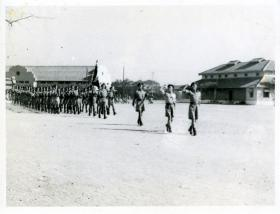The 15th (Kings) Parachute Battalion on parade, Karachi, India, 1946
