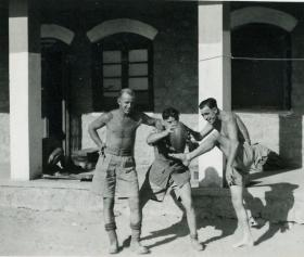Rugby practice by soldiers from 15th (Kings) Parachute Battalion, India, 1946