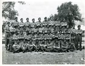 Group photograph of Support Company, 15th (Kings) Parachute Battalion, India, 1945