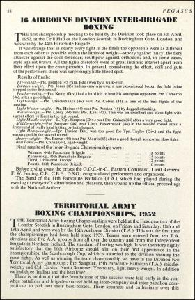 16 Airborne Division Boxing Article 1952