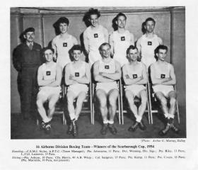 16 Airborne Division Boxing Team 1954