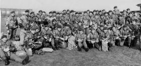 Members of 16 Lincoln Coy and 131 Para Sqn RE prior to emplaning at RAF Waddington, 5 April 1974