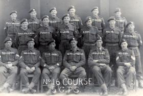 Course 16 at No 5 Glider Training School, Shobdon Airfield, June 1943.