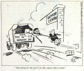 16 Airborne Division TA Recruiting Cartoon