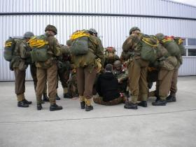 Jumpmaster DZ briefing for 1st Chalk Op Amherst Commemorative Jump, 2010.
