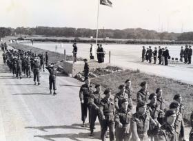 16th Para Bn (TA) march past GOC Western Command, August 1949.
