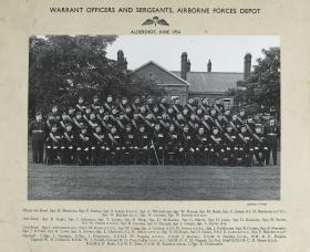 Group Photograph of WO and Sgts' Mess, Airborne Forces Depot, June 1954