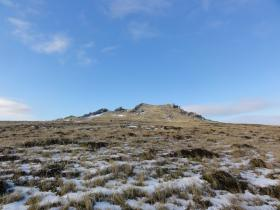 West face, Mount Longdon, 11 June 2012.