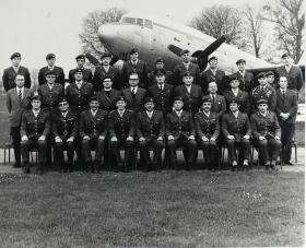 Group Photograph of Officers' Mess of the Airborne Forces Depot, 1974