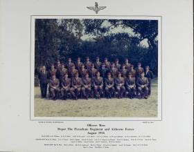 Group Photograph of the Officers' Mess, the Airborne Forces Depot, 1976