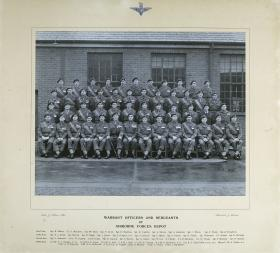 Group Photograph of the WO and Sergeants of the Airborne Forces Depot, 1951