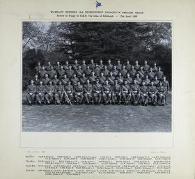 Group Photograph of WOs, the 16th Independent Parachute Brigade with HRH Duke of Edinburgh, April 1955