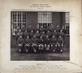 Group Photograph of the Pre Parachute Training Company, Airborne Forces Depot, 1957