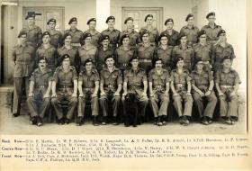 Officers of 16th Parachute Battalion, February 1947