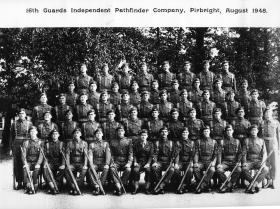Group photograph of 16th (Independent) Pathfinder Company, Pirbright, 1948