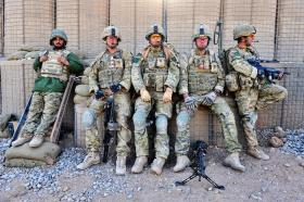 Members of 2 Platoon, 3 PARA, Afghanistan, 2011