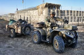 Quad Bike in Use, 3 PARA, Afghanistan, 2011