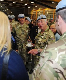 HRH Prince of Wales visits Wattisham Flying Station, 9 May 2013.