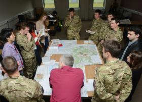 Soldiers and students prepare together for international crisis, 11 June 2013.