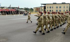 Members 15 Air Assault Close Support Squadron RLC (15 AACS Sqn) during their final parade, 23 July 2013.
