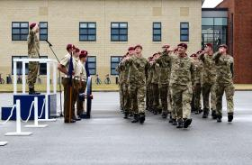 Final salute of 15 Air Assault Close Support Squadron RLC (15 AACS Sqn), 23 July 2013.