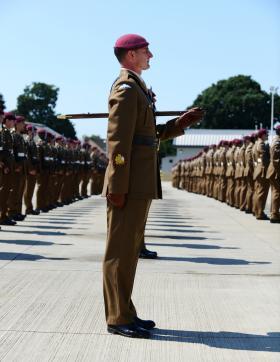 Parade completes airborne gunners' reorganisation, 7 PARA RHA, 1 August 2013.