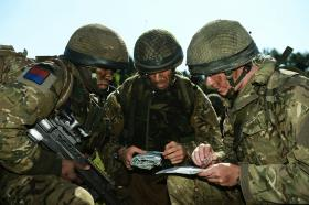 Three members of 7 PARA RHA on Exercise CYPHER BAYONET, September 2013.