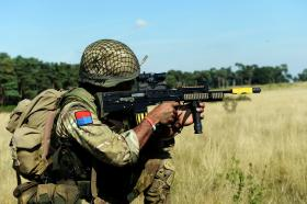Members of 7 PARA RHA on Exercise CYPHER BAYONET, September 2013.