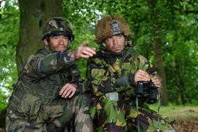 French and British troops on Exercise SPHINX RESOLVE, September 2013.