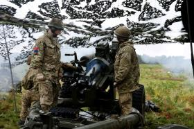 The British Army's big guns have returned to the STANTA ranges in Norfolk, 7 PARA RHA, September 2013.