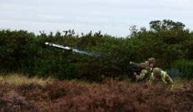 3 PARA Javelin missile firing, STANTA, Norfolk, 2013.