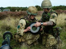 Soldiers from 3 PARA setting up the Javelin, STANTA, Norfolk, 2013.