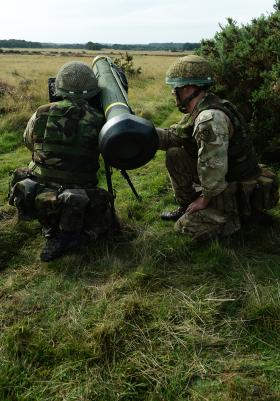Javelin in firing position, 3 PARA, STANTA, Norfolk, 2013.