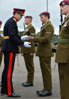 Presentation of Operational Service Medals, 12 (Nova Scotia) Squadron RE, Rock Barracks, Oct 2013.