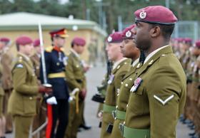 Parade and presentation of Operational Service Medals, 12 (Nova Scotia) Squadron RE, Rock Barracks, Oct 2013.