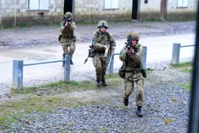 Troops from 3 PARA on Exercise Urban Eagle, Febuary 2014.