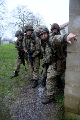 Urban warfare training, 3 PARA, Ex Urban Eagle, February 2014.