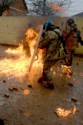 3 PARA riot training, Ex Urban Eagle, February 2014.