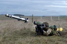 Firing a Javelin, Ex Blue Panzer, 2 PARA, Salisbury Plain, February 2014.