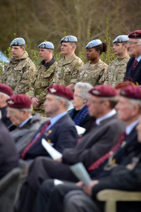 Service honours anniversary of Second World War airborne operation, 24 March 2013.