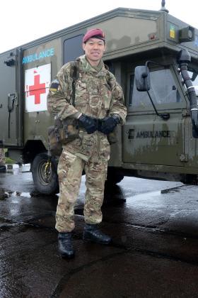 Major Kan taking part in Exercise Joint Warrior, 2014.