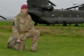Pte Dytham taking part in Exercise Joint Warrior, 2014.