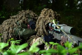 Snipers from 16 Air Assault Brigade in training, STANTA, May 2014.