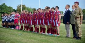 The Parachute Regiment and The Royal Marines play for the Trafalgar Cup, 2014.