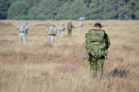Ex Anakonda: British and Polish Paratroopers on exercise, 2 October 2014.